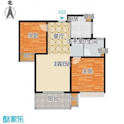 朗诗未来街区67.00㎡B户型2室2厅