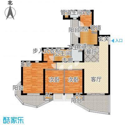 龙湖世纪峰景130.00㎡7号楼B3户型3室2厅