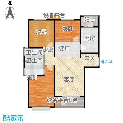 远洋海世纪137.00㎡远洋海悦公馆C5户型3室2厅
