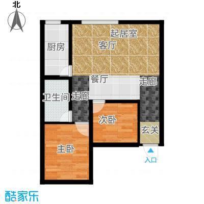 泰伦特酒店商务公寓59.10㎡C3\C4户型2室1厅