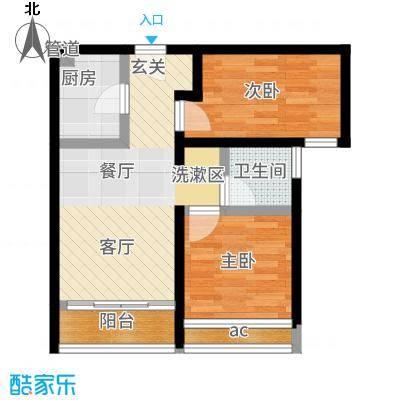 合生天戴河68.00㎡高层C户型2室2厅