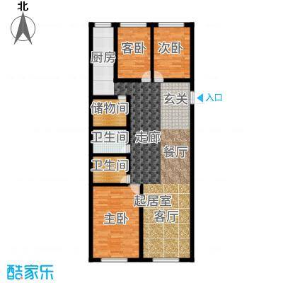 泰伦特酒店商务公寓116.40㎡B1\B2\B8\B9户型3室2厅