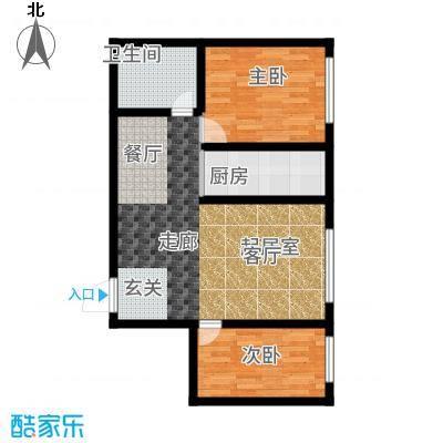 泰伦特酒店商务公寓76.20㎡C13户型2室2厅