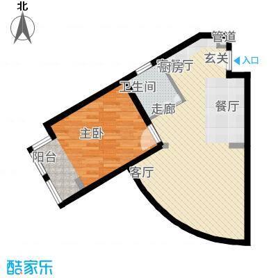 紫澜香郡75.85㎡公寓A户型1室1厅