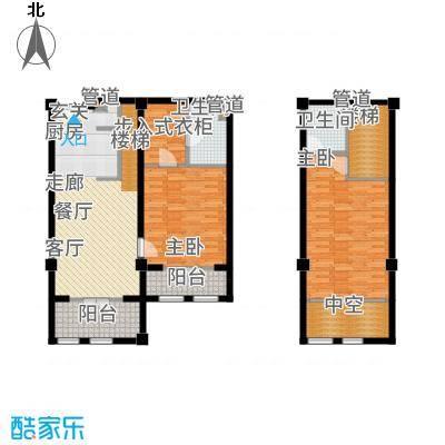 一杯澜94.40㎡一号楼公寓G4户型2室2厅