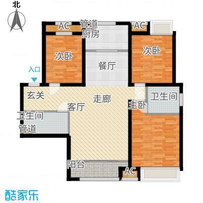 曦城花语114.73㎡二期高层G3A户型3室2厅