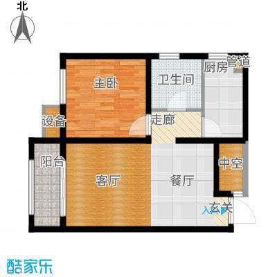 戴河海公园68.25㎡临街高层D户型1室2厅