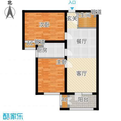 香邑溪谷86.00㎡11层F3户型2室1厅