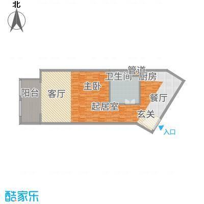 紫澜香郡43.57㎡公寓B户型1室