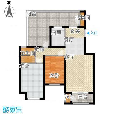 香邑溪谷94.00㎡南区电梯洋房C4户型2室2厅