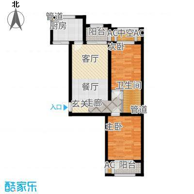 香邑溪谷87.00㎡卢卡高层G1户型2室2厅