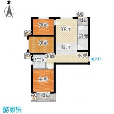 香邑溪谷96.00㎡卢卡高层G3户型3室2厅