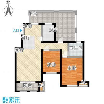 香邑溪谷95.00㎡南区电梯洋房B3户型2室2厅
