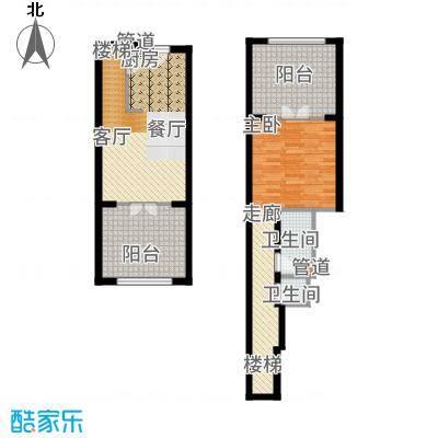 一杯澜94.22㎡一号楼公寓复式A4户型1室2厅