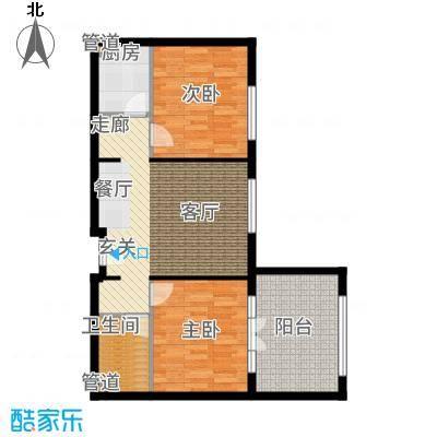 一杯澜91.52㎡一号楼公寓C1户型2室2厅