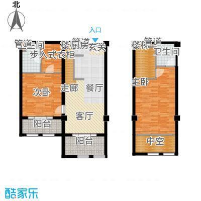 一杯澜94.53㎡一号楼公寓复式G8户型2室2厅