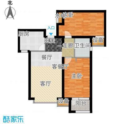天成佳境89.64㎡B2-3户型2室2厅