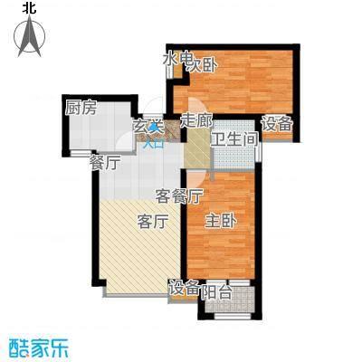 天成佳境89.77㎡B2-1户型2室2厅