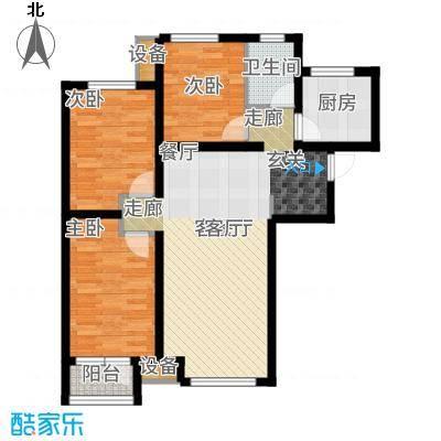 天成佳境101.73㎡D2户型3室2厅