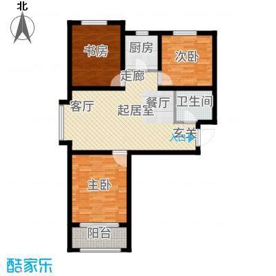 晟禾时代110.00㎡高层G2-A户型3室2厅