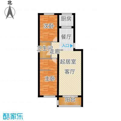 仁盛家园93.60㎡多层D户型2室2厅