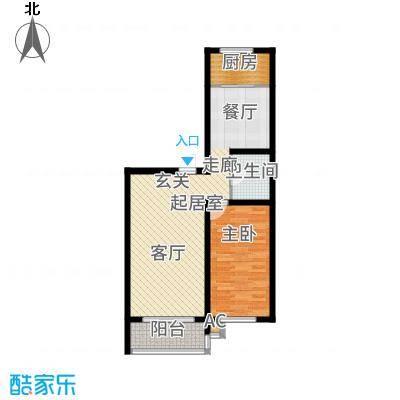仁盛家园75.34㎡多层G户型1室1厅
