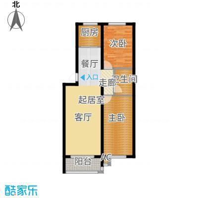 仁盛家园90.44㎡多层E户型2室2厅