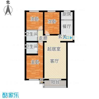 仁盛家园120.67㎡多层F户型3室2厅
