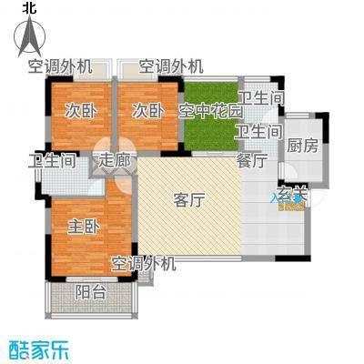 潇湘名城129.82㎡3栋0102户型3室2厅