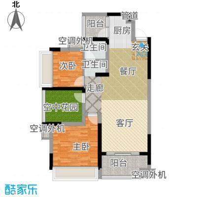 潇湘名城101.33㎡7#03/08户型2室2厅
