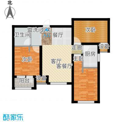 天成佳境89.79㎡C6户型3室2厅