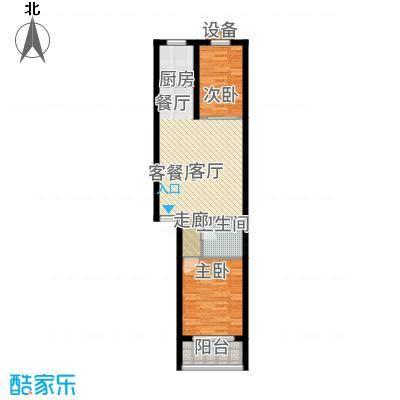 华都驿郡77.45㎡6+1多层B户型2室2厅