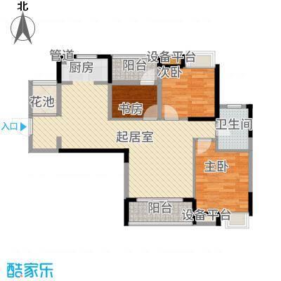 清江山水92.00㎡二期三组团B3户型3室2厅