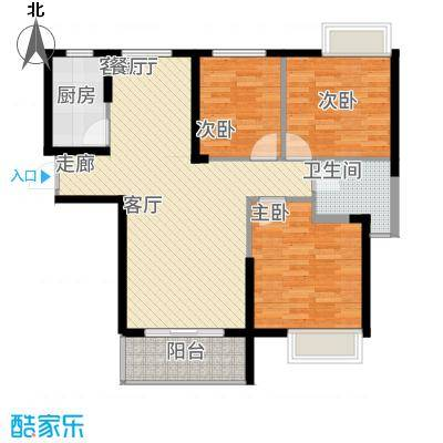 长航蓝晶国际102.70㎡三期14号楼M3户型3室2厅