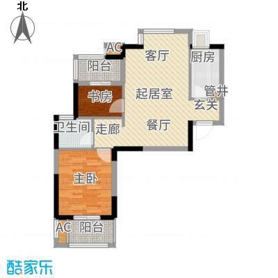 光谷地产梅花坞80.00㎡C栋C2户型2室2厅
