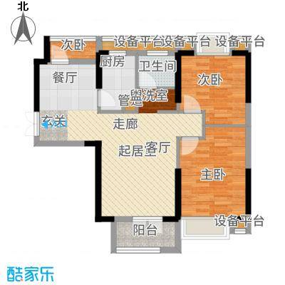 天宇万象国际88.97㎡C3户型2室2厅