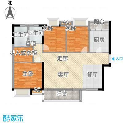 港湾江城118.00㎡1栋02户型3室2厅