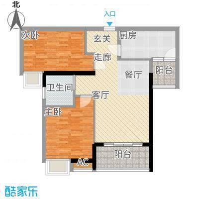 港湾江城78.00㎡3、4栋01、04户型2室2厅