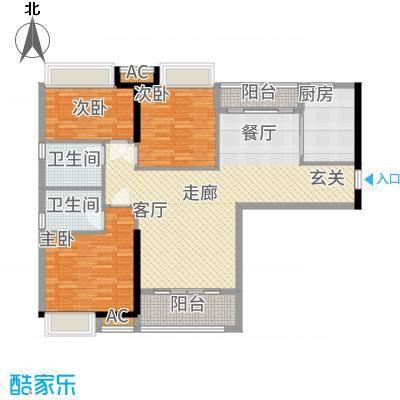 港湾江城112.00㎡3栋03、4栋02户型3室2厅