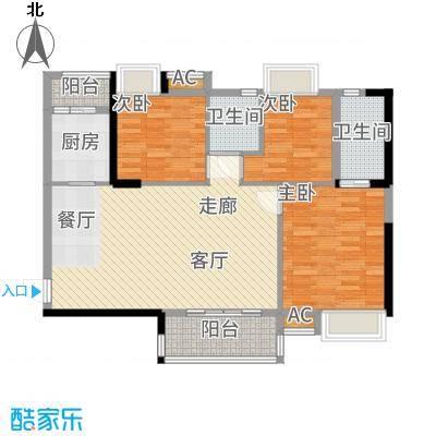 港湾江城94.00㎡13栋04、14栋01户型3室2厅