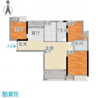 港湾江城113.00㎡3栋02、4栋03户型3室2厅