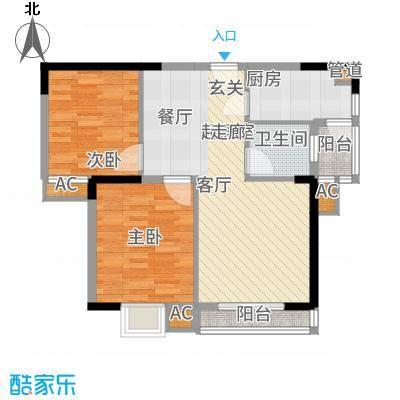 龙源映象87.00㎡5#C2户型2室2厅