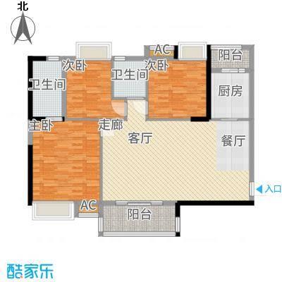 港湾江城114.00㎡13栋01、14栋04户型3室2厅