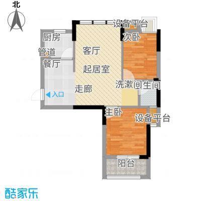 王家湾中央生活区87.00㎡3、8号楼B1户型2室2厅