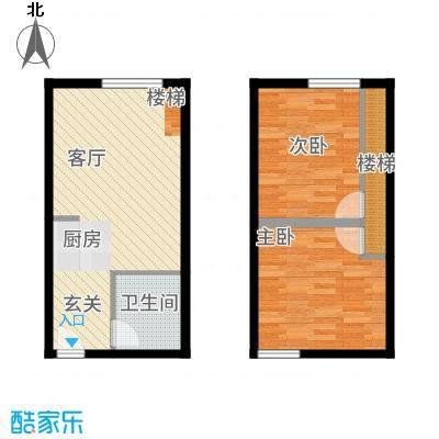 光谷新界46.00㎡A户型2室1厅