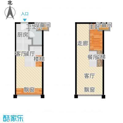 世茂广场天誉43.00㎡A1户型1室1厅