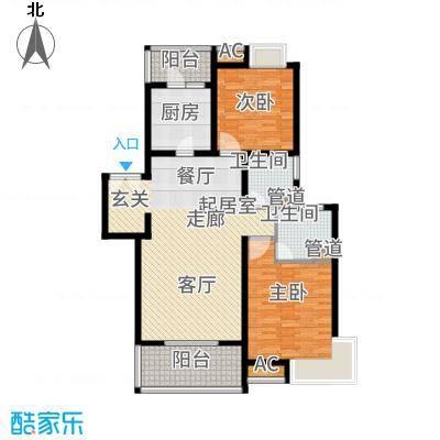 白塘壹号115.00㎡115系列户型2室2厅