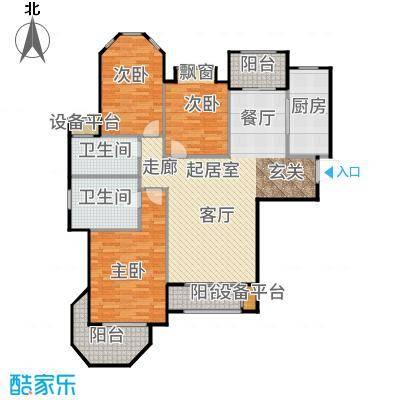 澜调国际127.00㎡5#6#楼C01户型3室2厅