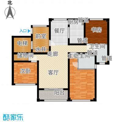 望湖公寓123.00㎡D2户型3室2厅