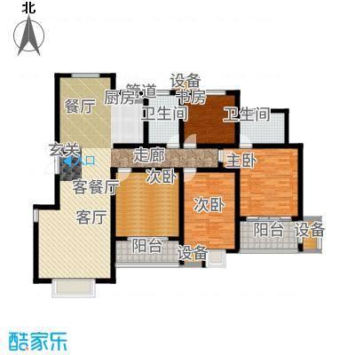 滨江苑150.00㎡高层11#12#标准层全龄幸福户型4室2厅